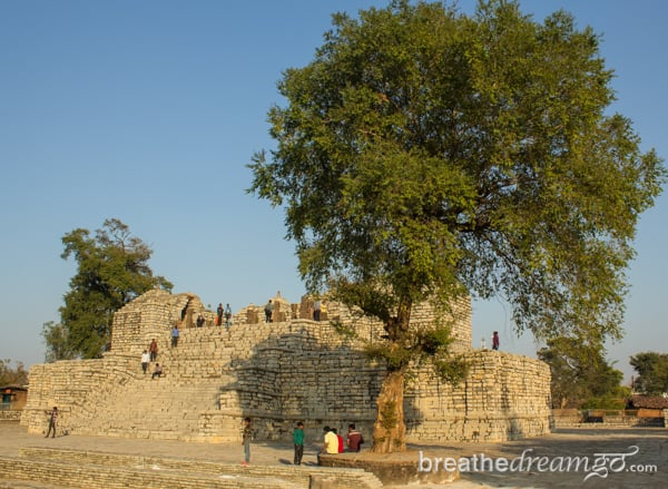 Ruins of an ancient temple in Sirpur, Chhattisgarh.