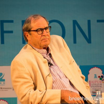 Chasing Paul Theroux at the Jaipur Literature Festival in India