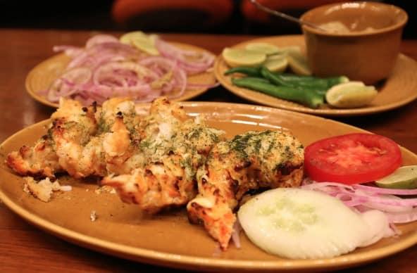 Tandoori Jhinga at Bukhara is a great Delhi food
