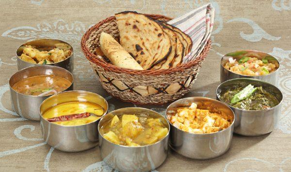 India, Indian, food, cuisine, thali, Punjabi, curry, roti