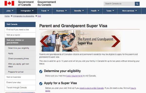 Canada, Visa, Super Visa