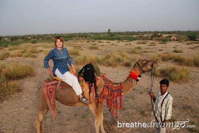 On camel safari in Rajasthan