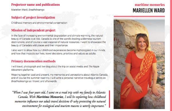 Mariellen Ward, The Ripple Movement, project, Atlantic, Canada, Maritimes