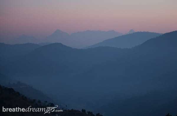 Himalayas, Junoon in the hills, sunrise, Kumaon, India, photograph