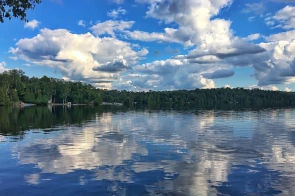 summer lake in Ontario