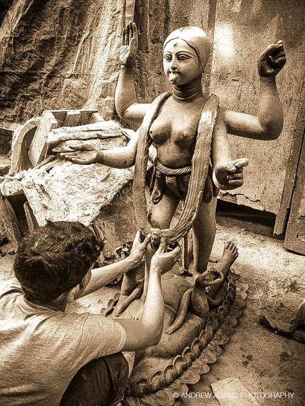 Photo of Kumartuli, part of Durga Puja Indian Festival