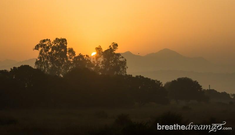 Rishikesh, Aurovalley, ashram, sunrise, sunset