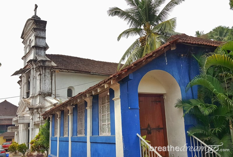 Old church in Fontainhas, Panjim, Goa, India