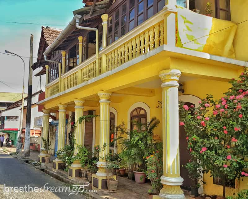 Yellow house in Panjim, Goa