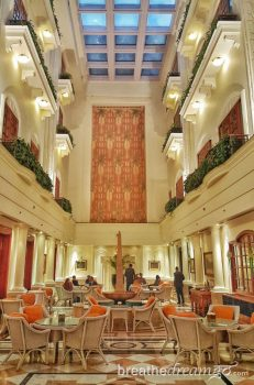 hotel, Imperial, Delhi, India, luxury, spa, five star, quality, art, museum, Akshay Kumar, Bollywood, tea, high tea, food, dining, Atrium