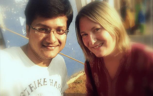 I met Vishal at a train station in Kerala