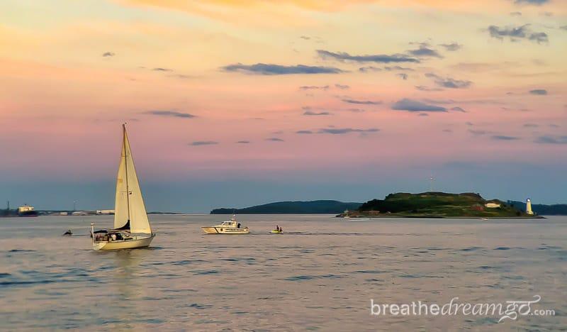 Nova Scotia, Canada, trip, journey, explore, visit, ocean, sea, Halifax, train, sunset, boat, sailboat