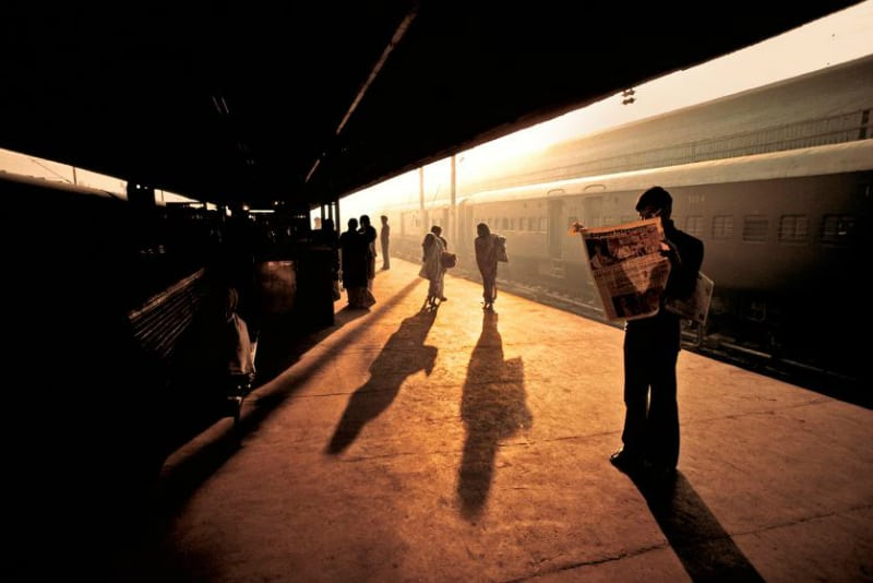 Steve McCurry, India, photo, photograph, photography, train