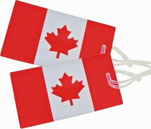 Canada, Canadian, luggage tags