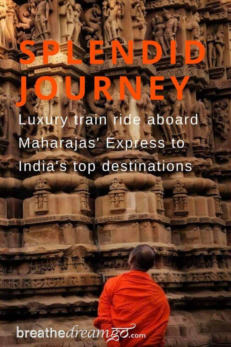 Luxury train ride aboard Maharajas' Express to India top destinations #touristplacesinIndia #MaharajassExpress #luxurytrain #IncredibleIndia