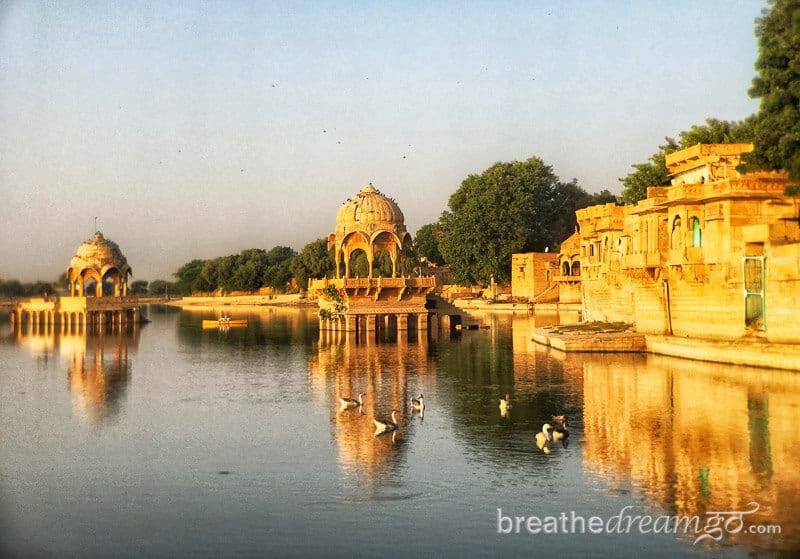 India trip, Rajasthan, Jaislamer, Gadisar Lake