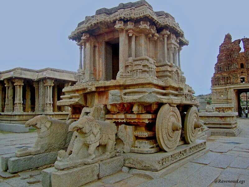 India landmarks, monuments of India, Hampi stone chariot