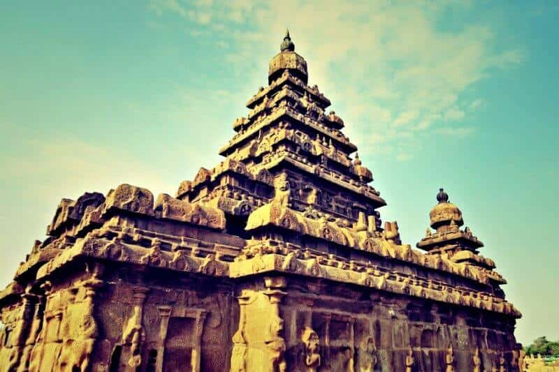 India landmarks, monuments of India, Shore Temple