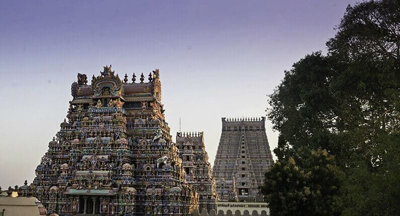 India landmarks, monuments of India, SrirangamTemple