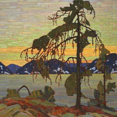Plein air painting in Algonquin Park