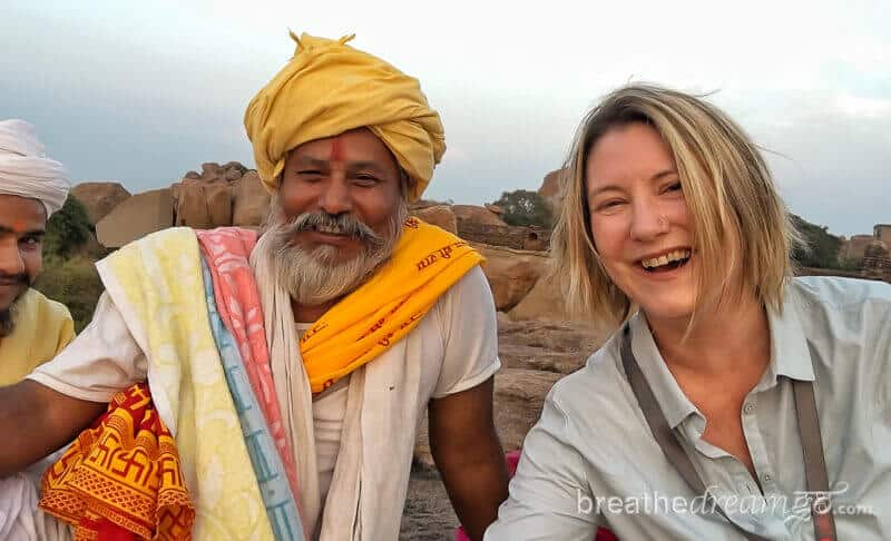 Mariellen Ward founder of India travel blog Breathedreamgo