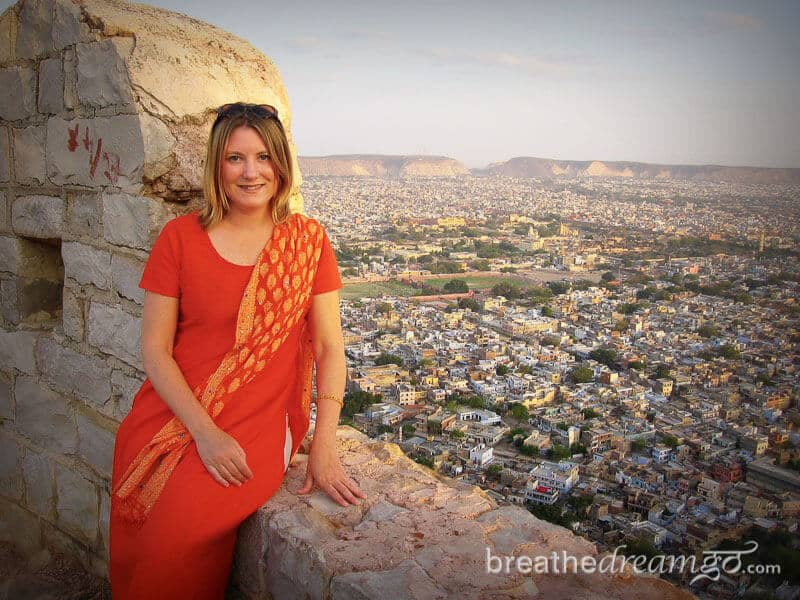 Mariellen Ward at Tiger Fort, Jaipur India