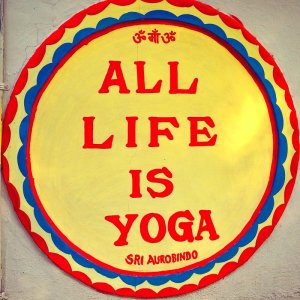 All life is yoga sign at Aurovalley Ashram, India for International Yoga Day #YogaDay #India #IncredibleIndia