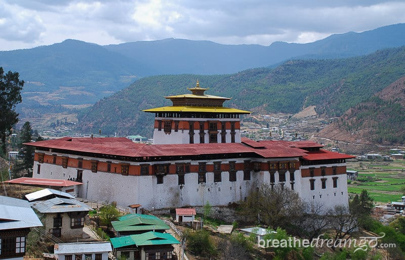 Buddhist dzong in Bhutan