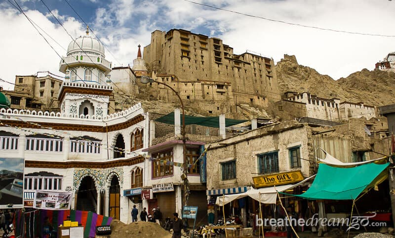 Buddhist palace in Leh, Ladakh, India