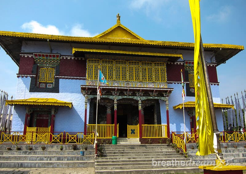 Buddhist temple in Himalayas, Sikkim