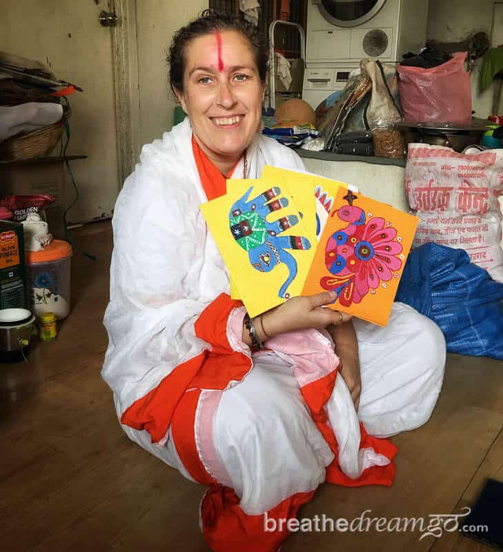 H Lucy Guest a child welfare and ethical tourism advocate in Varanasi India
