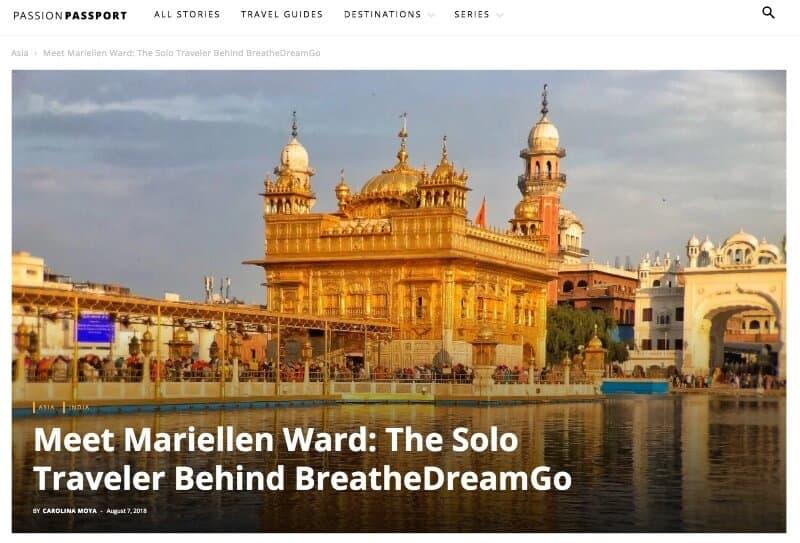 Passion Passport interview Mariellen Ward solo female travel