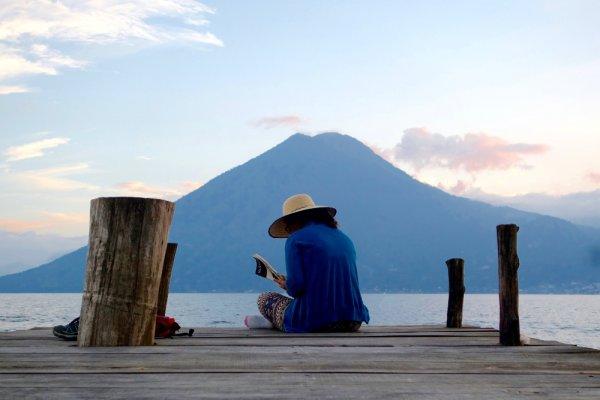 Travel writer Shivya Nath, Lake Atitlan, Guatemala