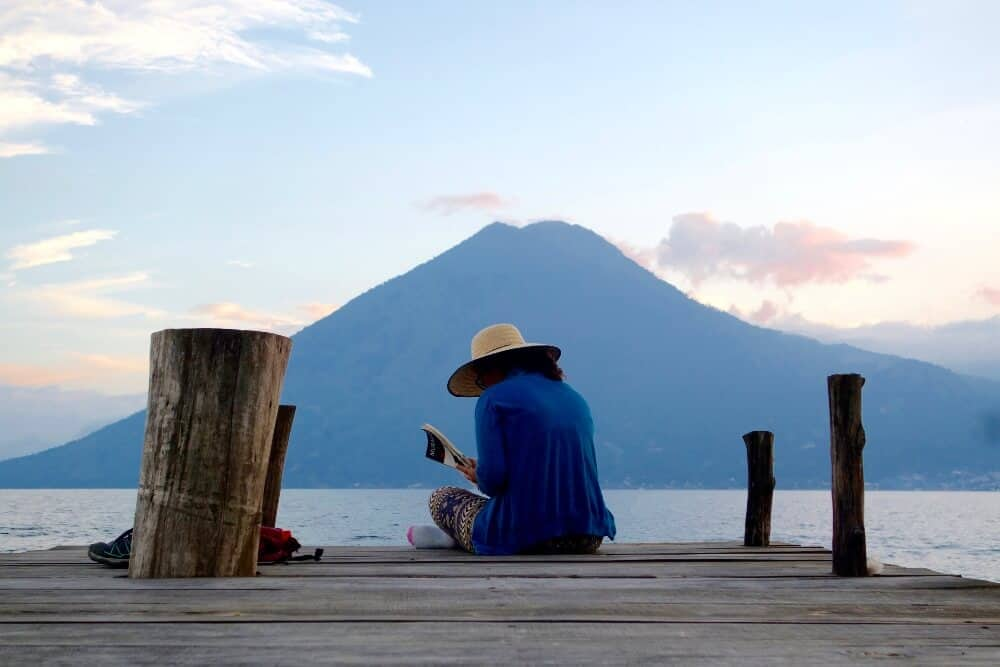 Travel writer Shivya Nath, Lake Atitlan, Guatemala