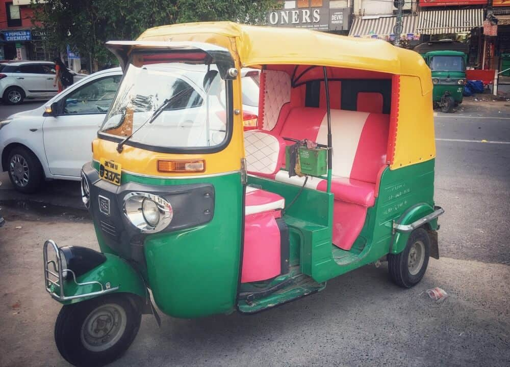 Indian autorickshaw in Delhi