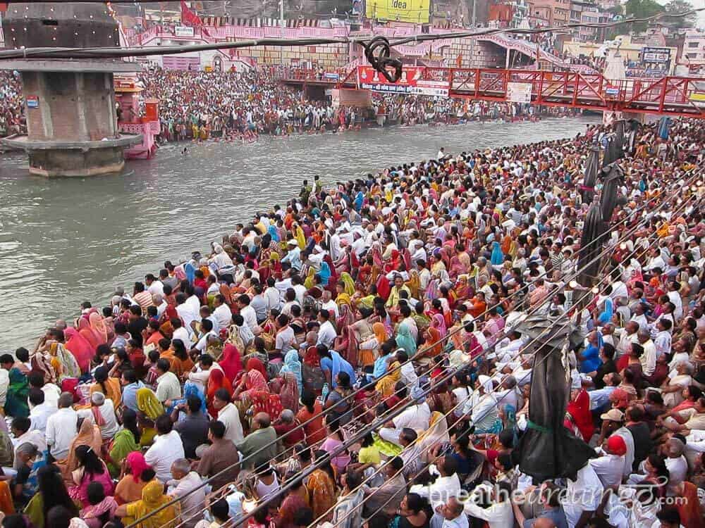 At the Ardh Kumbh Mela, Haridwar, India