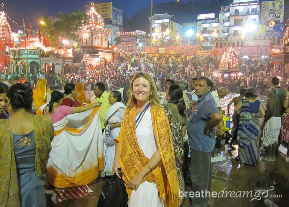 MW at the Ardh Kumbh Mela, Haridwar, India