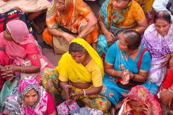 Kumbh Mela Indian festival 2010 women