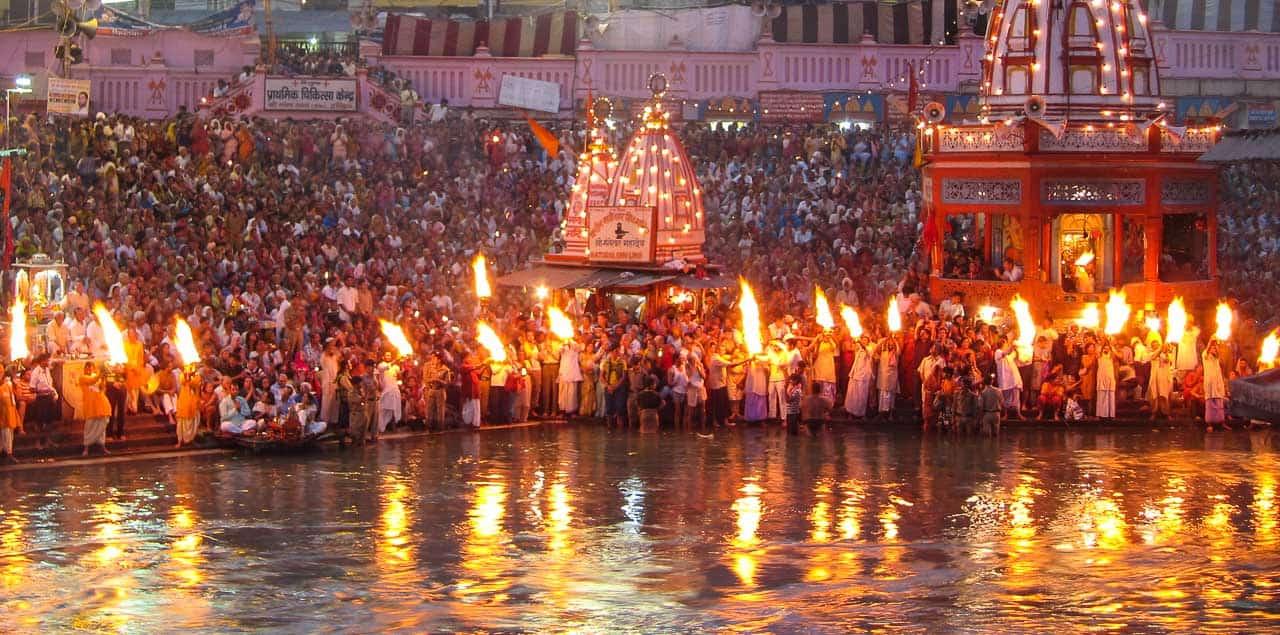 Kumbh Mela aarti in Haridwar