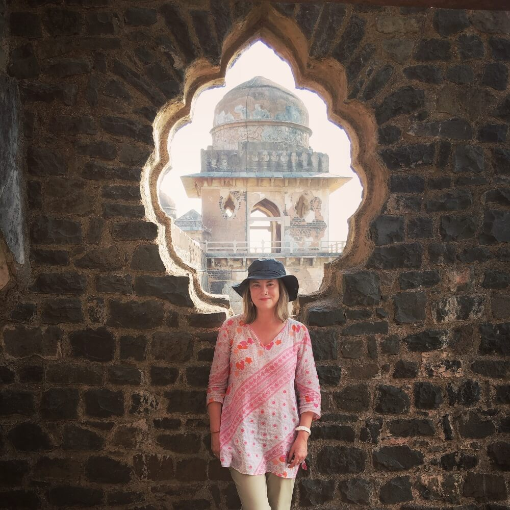 At Mandu, Madhya Pradesh, the largest fort in India