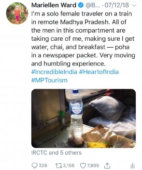 MW viral tweet train travel India