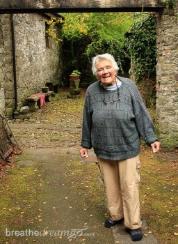 Female adventure travel writer Dervla Murphy