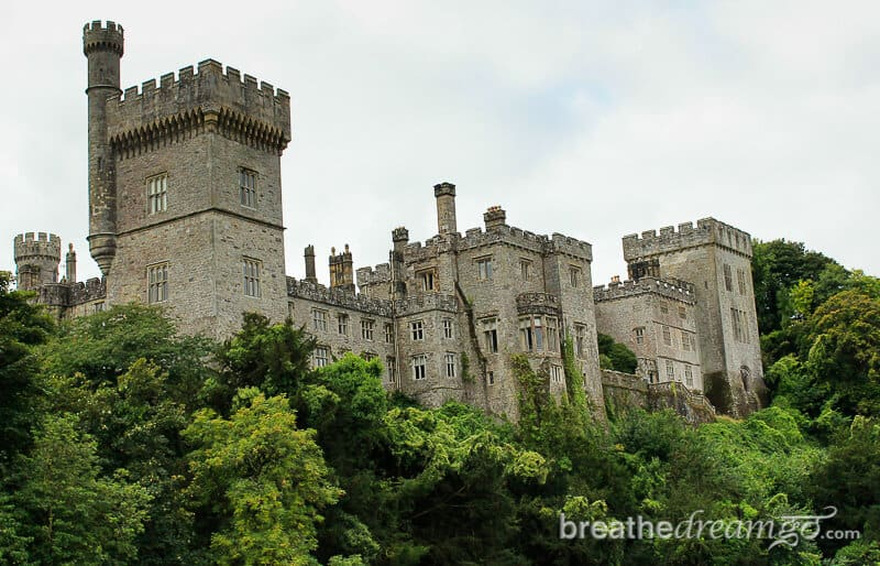 Lismore Castle overlooks the small town in Ireland