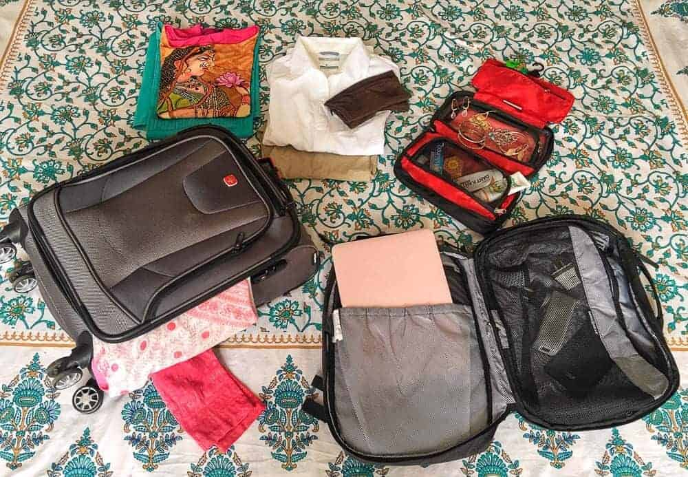 Packing for travel in India