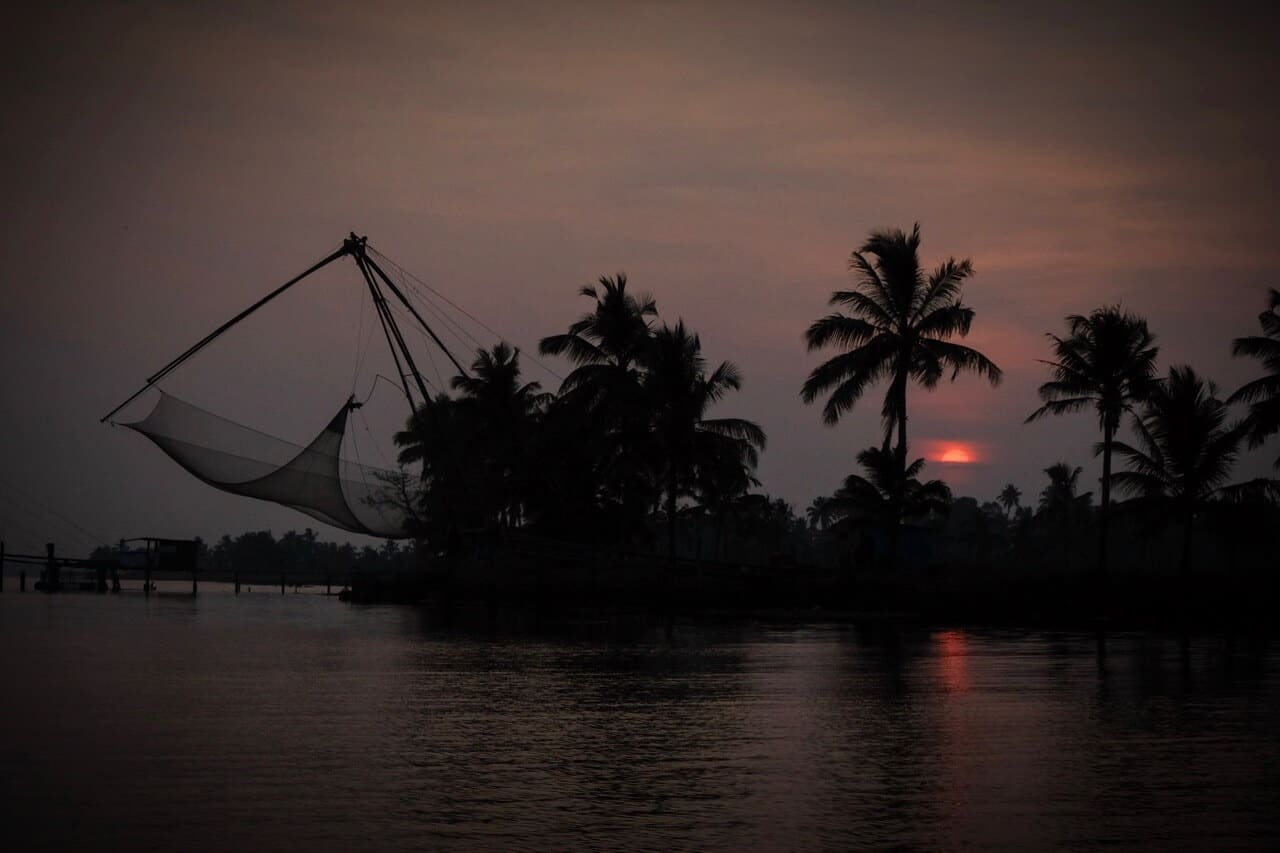 Chinese fishing nets, Kumarakom Backwaters, Kerala