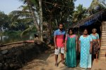 Local family, Kumarakom Backwaters, Kerala