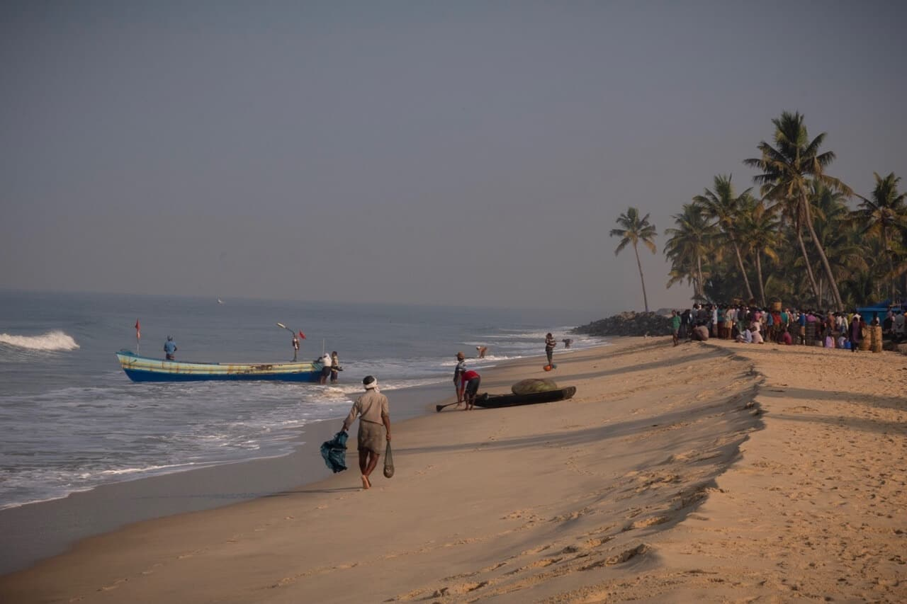 Fishermen on Marari Beach, Kerala