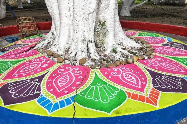 Aurovalley Ashram colourful painting