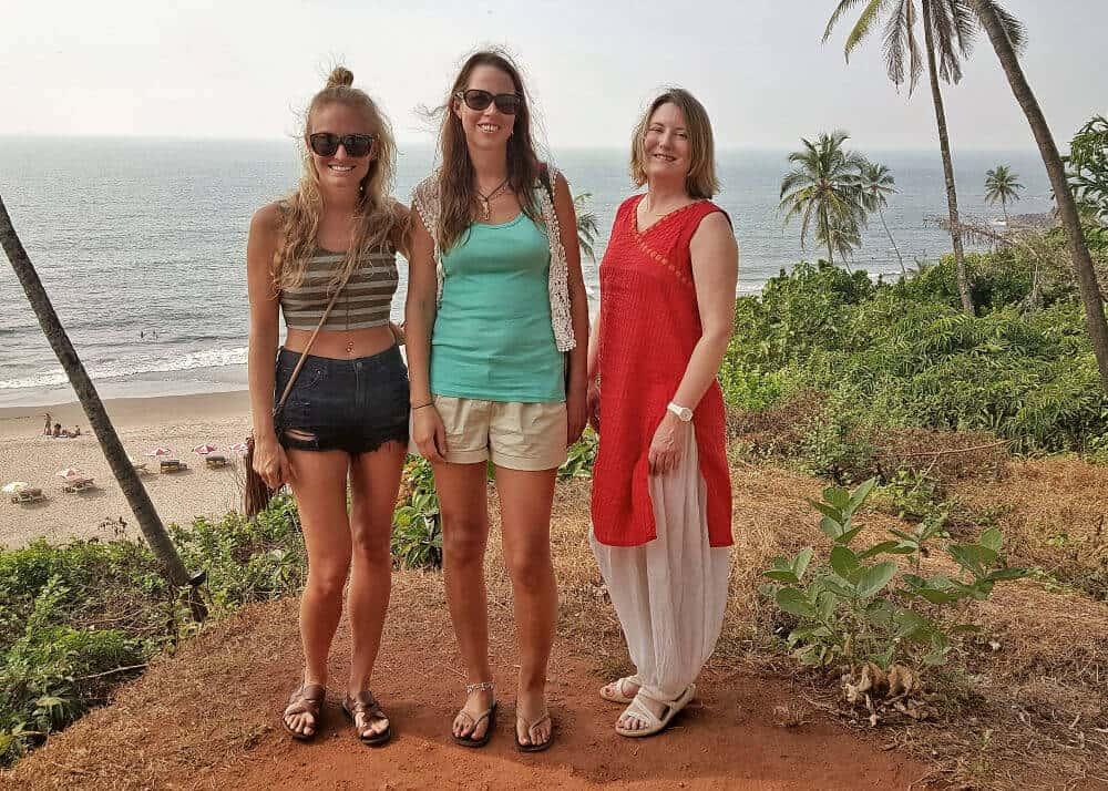 Mariellen, Rachel and Anna in Goa