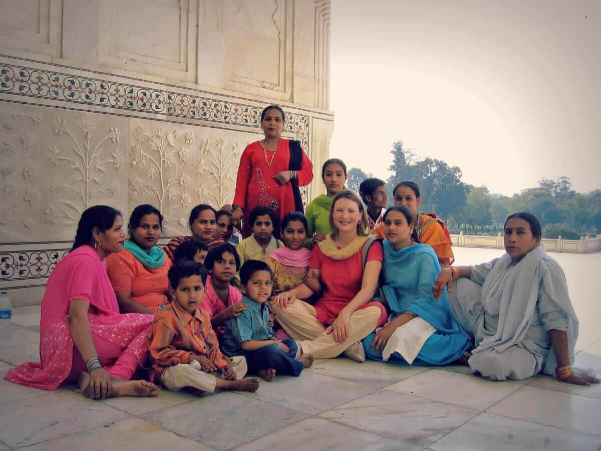 photo of Mariellen at Taj Mahal, Agra 2006